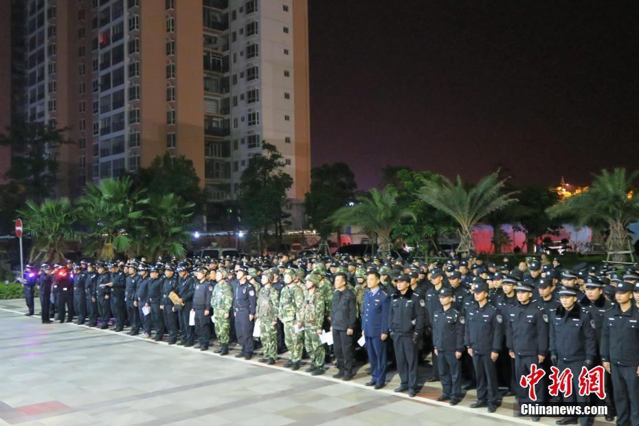 广西北海700余名执法人员打击传销